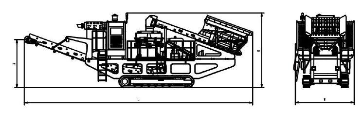 履带移动圆锥破碎机结构图