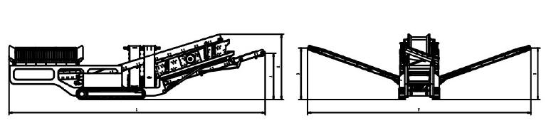 移动筛分站|移动式筛分站|履带式移动筛分站|履带移动筛分站结构图