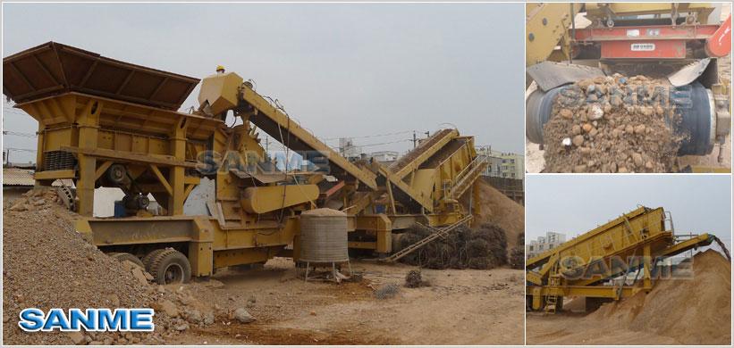 建筑垃圾po碎机生产线